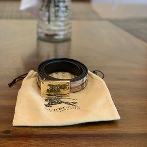 Burberry women's logo belts wide 23mm